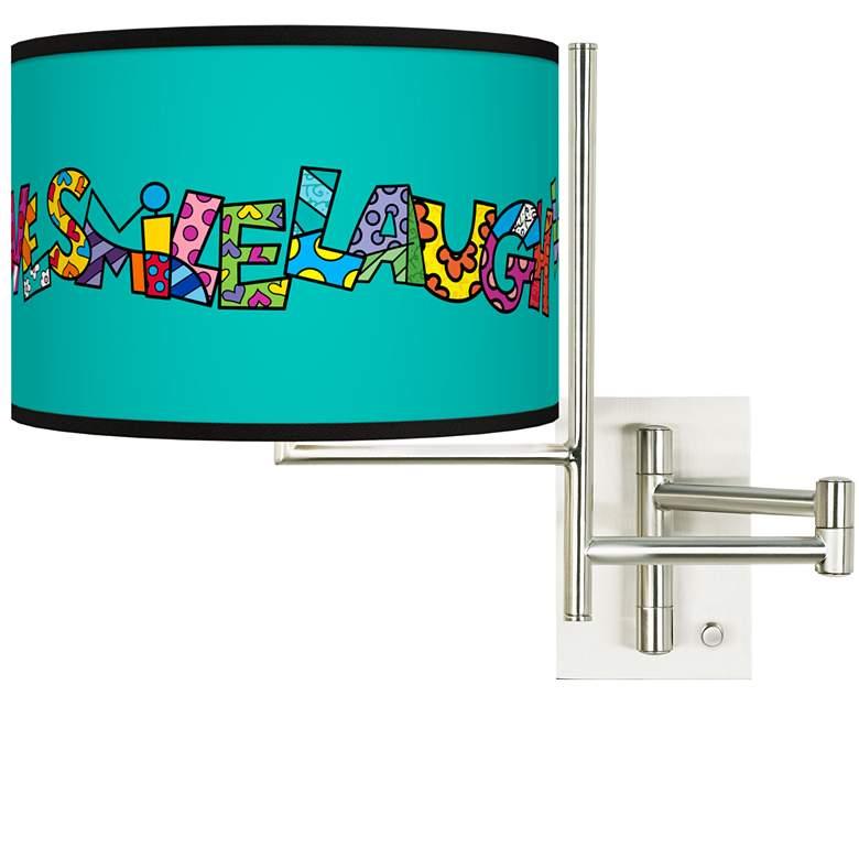 Tempo Romero Britto Love Smile Plug-in Swing Arm Wall Lamp
