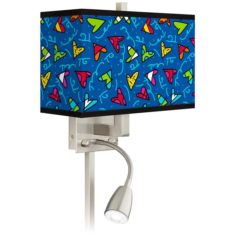 Britto Hearts LED Reading Light Plug-In Sconce