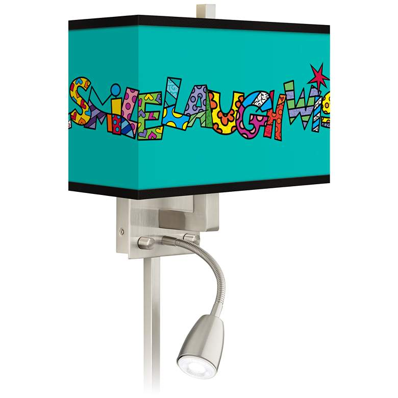 Britto Love Smile LED Reading Light Plug-In Sconce