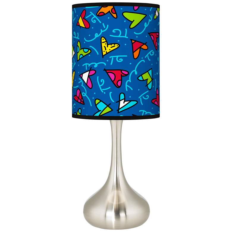 Britto Hearts Giclee Droplet Table Lamp