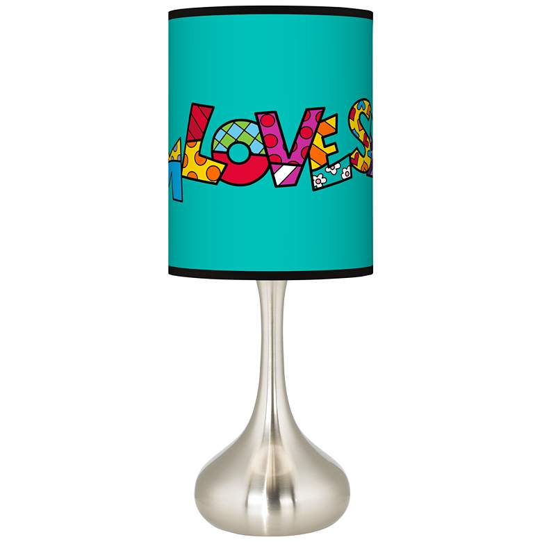 Britto Love Smile Giclee Droplet Table Lamp