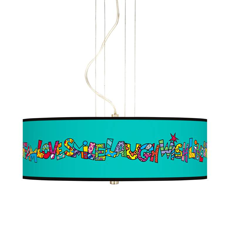 "Britto Love Smile 20"" Wide 3-Light Pendant Chandelier"