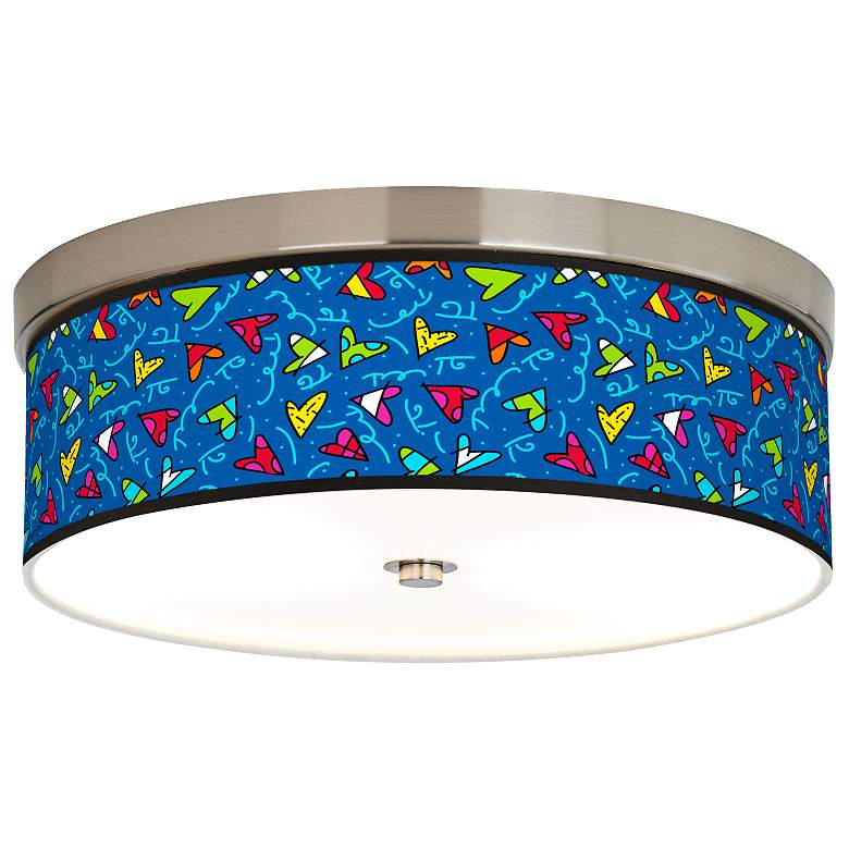Romero Britto Hearts Giclee Energy Efficient Ceiling Light