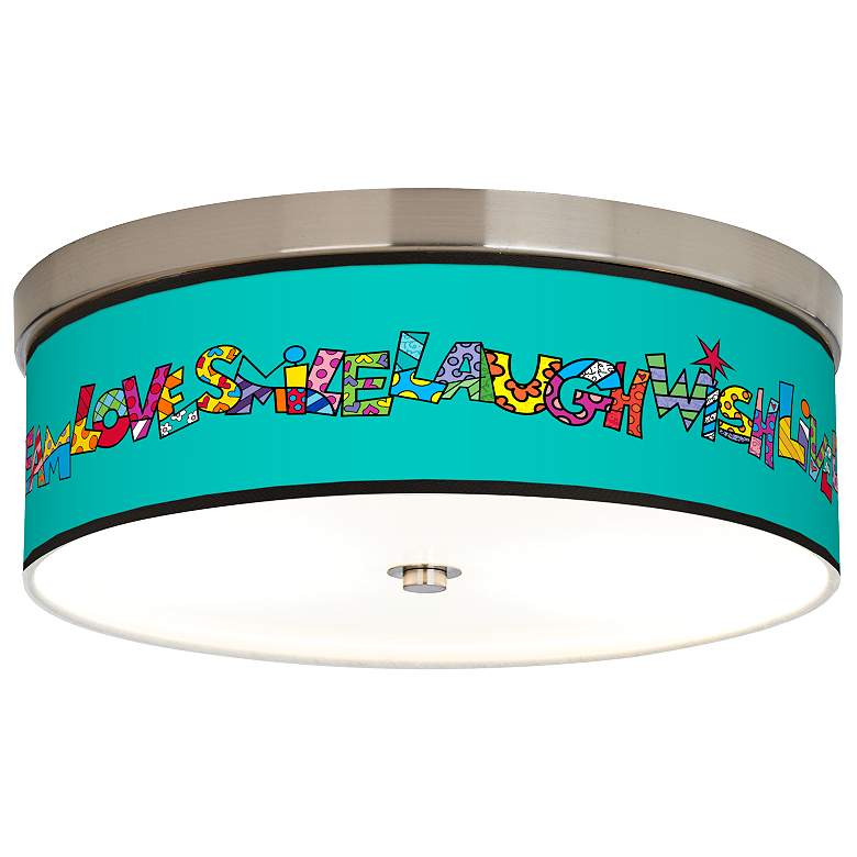 Romero Britto Love Smile Giclee Energy Efficient Ceiling Light