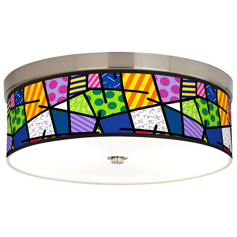 Britto Abstract Giclee Energy Efficient Ceiling Light