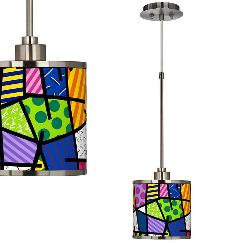 Romero Britto Abstract Mini Pendant Light