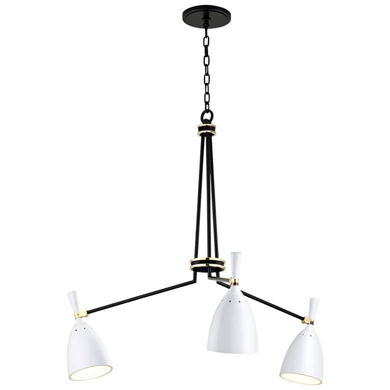 """Corbett Utopia 39 1/2""""W Off-White 3-Light LED Chandelier"""