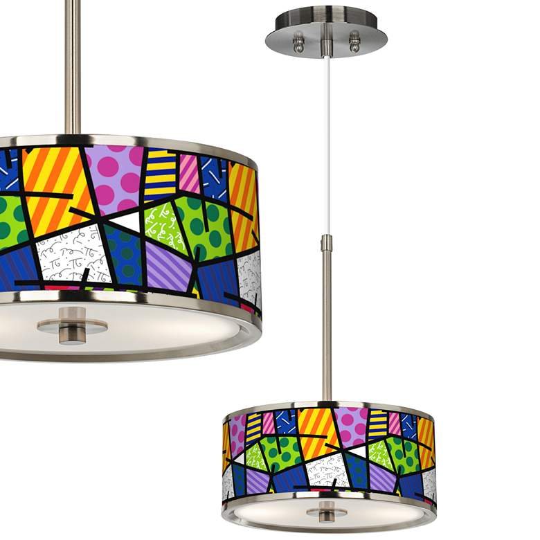 """Britto Abstract 10 1/4"""" Wide Pendant Light"""