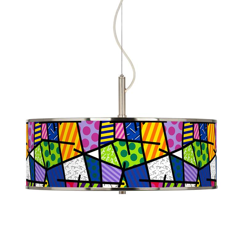 "Britto Abstract 20"" Wide Pendant Light"