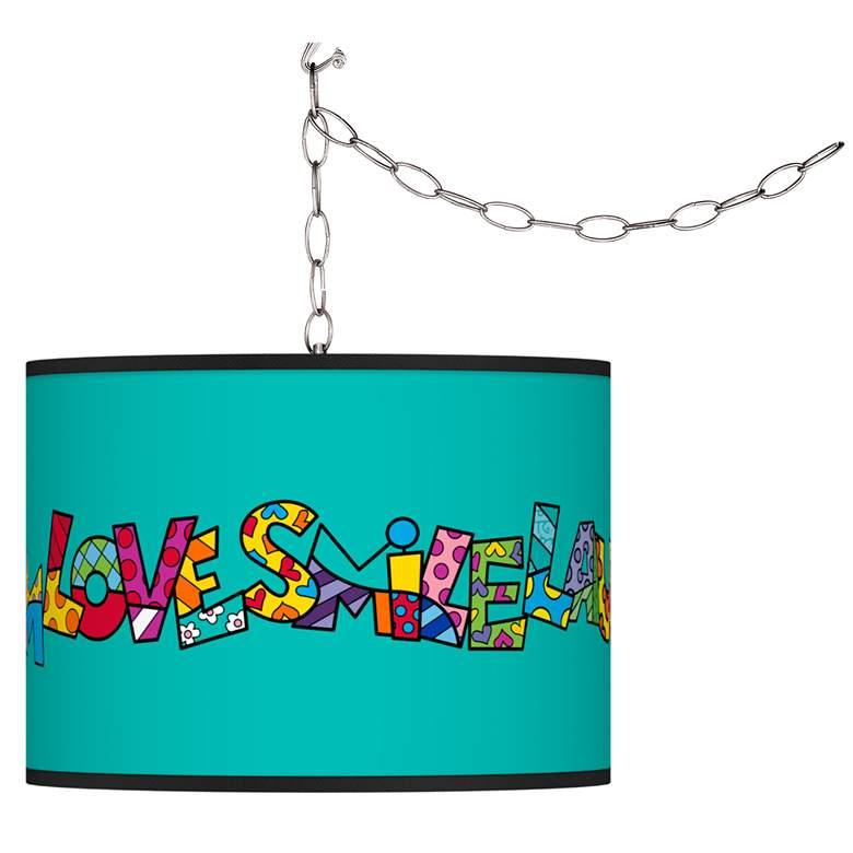 Britto Love Smile Plug-In Swag Pendant