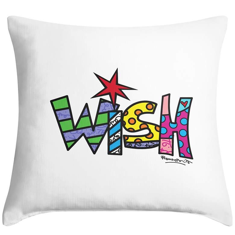 "Romero Britto Wish 18"" Square Throw Pillow"