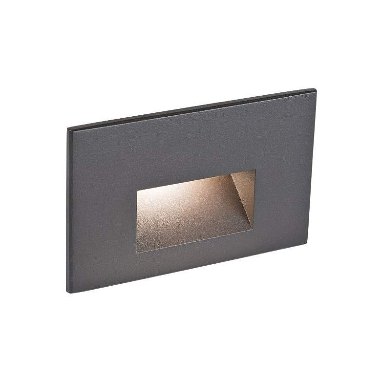 "WAC LEDme 5"" Wide Bronze Horizontal 3000K LED Step Light"