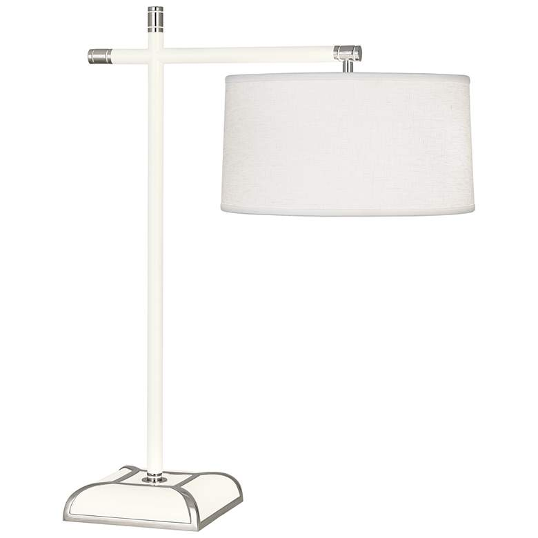 Robert Abbey Ranger Glossy White Painted Metal Desk Lamp