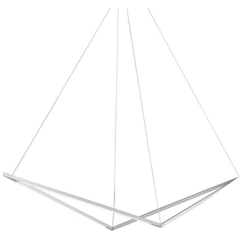 "Koncept Z-Bar Bird 48 3/4"" Wide Silver LED Pendant Light"