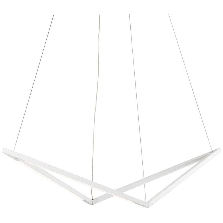 """Koncept Z-Bar Bird 34"""" Wide Matte White LED Pendant Light"""
