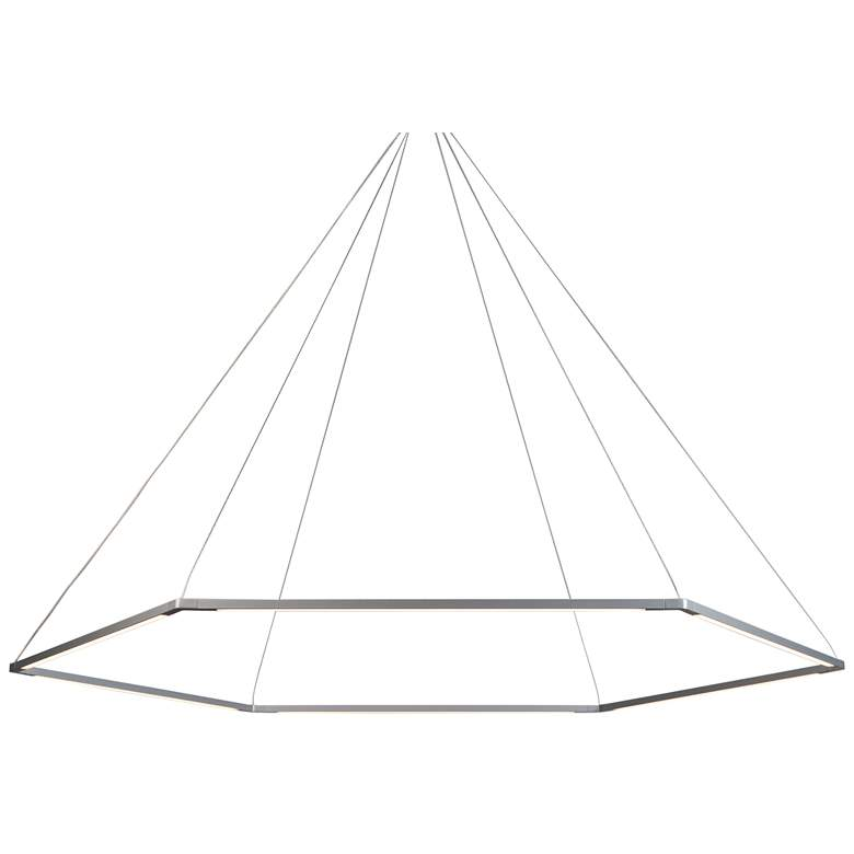 "Koncept Z-Bar Honeycomb 51 3/4""W Silver LED Pendant Light"