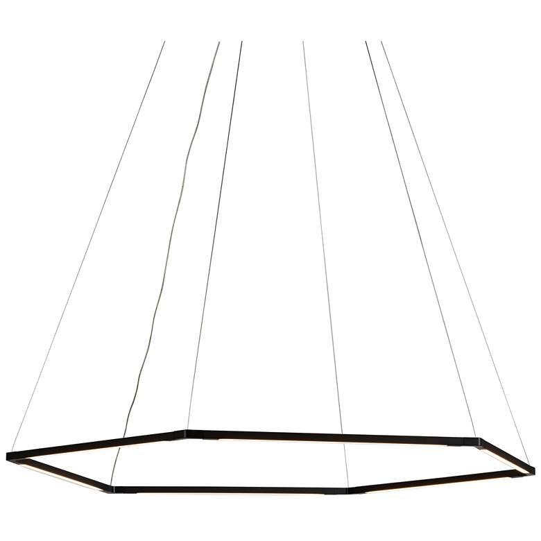 "Z-Bar Honeycomb 35 3/4"" Wide Matte Black LED Pendant Light"