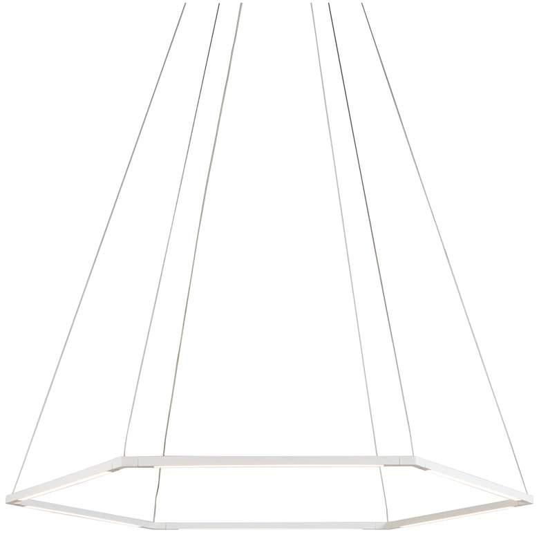 """Z-Bar Honeycomb 35 3/4"""" Wide Matte White LED Pendant Light"""