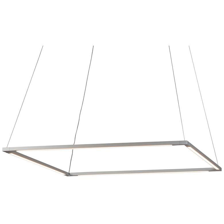 "Koncept Z-Bar Square 26"" Wide Silver LED Pendant Light"