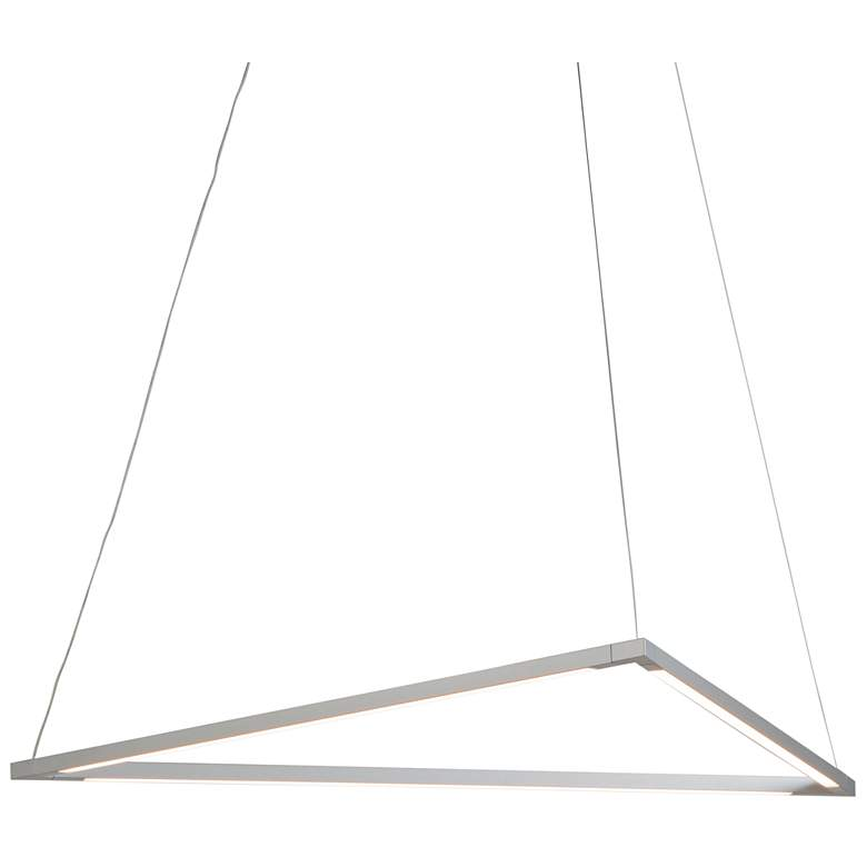 "Koncept Z-Bar Triangle 26 1/2"" Wide Silver LED Pendant Light"