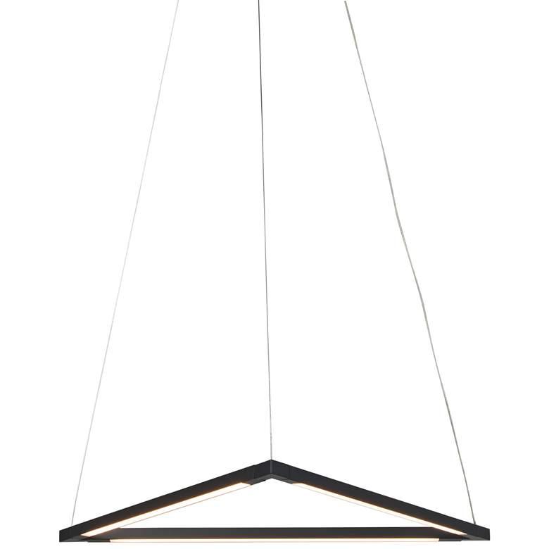"Z-Bar Triangle 18 1/2"" Wide Matte Black LED Pendant Light"