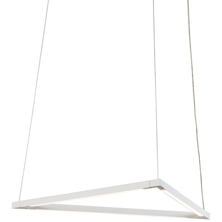"Z-Bar Triangle 18 1/2"" Wide Matte White LED Pendant Light"