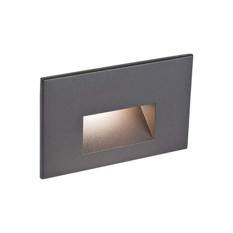 "WAC LEDme 5""W Bronzed Brass Horizontal 3000K LED Step Light"