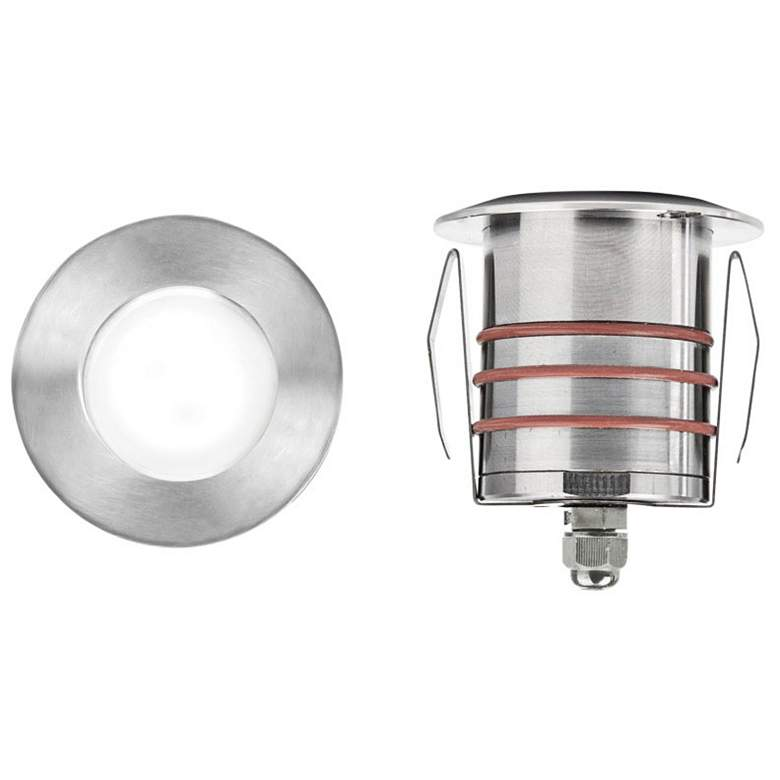 """WAC 2"""" Stainless Steel Round LED In-Ground Indicator Light"""