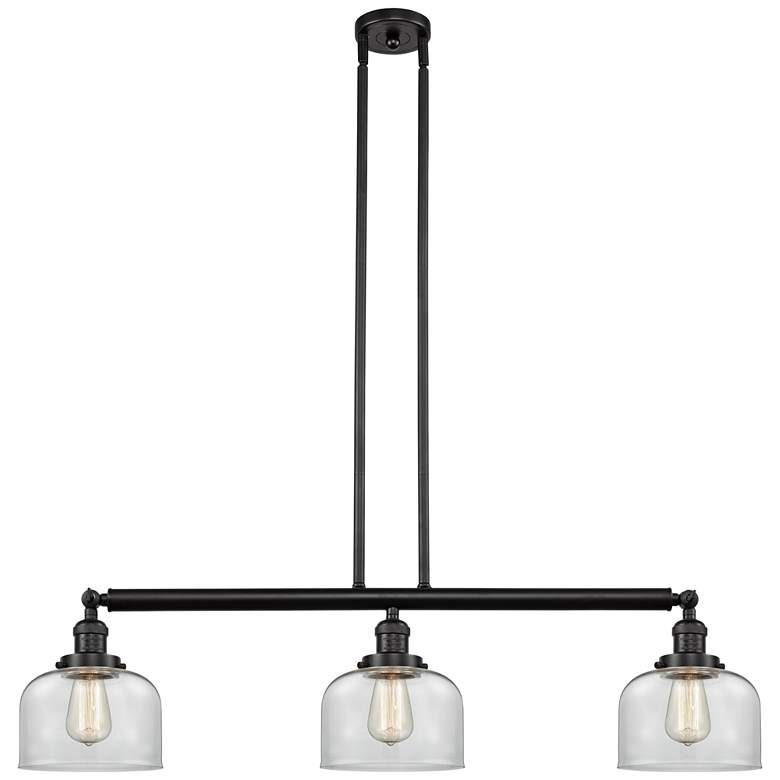"Large Bell 40 1/2""W Oil-Rubbed Bronze 3-Light Island Pendant"