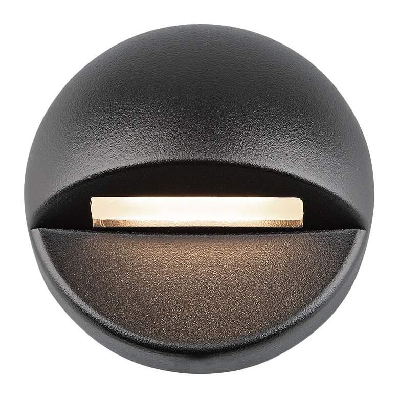"WAC LEDme 3"" Wide Black Round 2700K LED Deck and Patio Light"