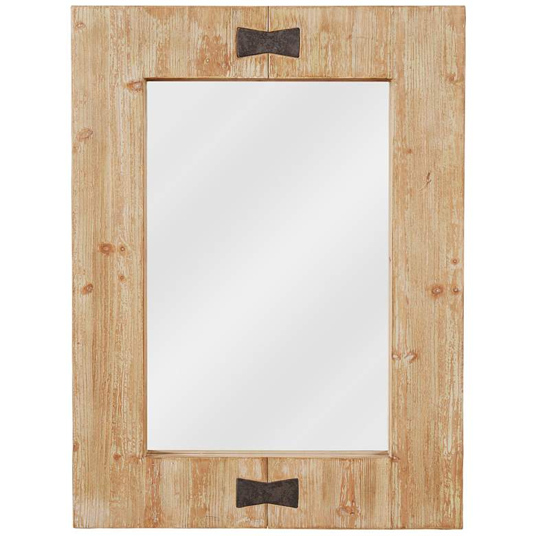 "Kenroy Home Farfalle Wood 30"" x 40"" Wall Mirror"