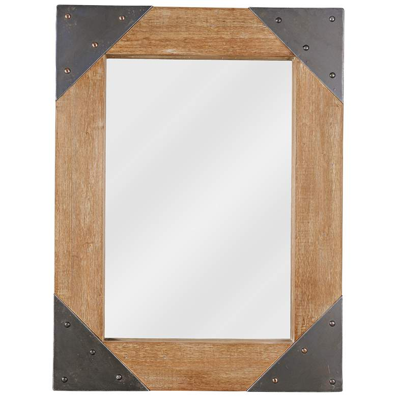 "Kenroy Home Brace Wood with Metal 30"" x 40"" Wall Mirror"