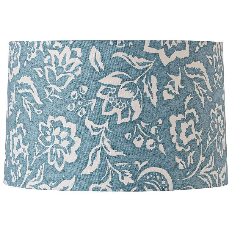 Delft Rokeby Road Blue-White Drum Shade 15x16x10 (Spider)
