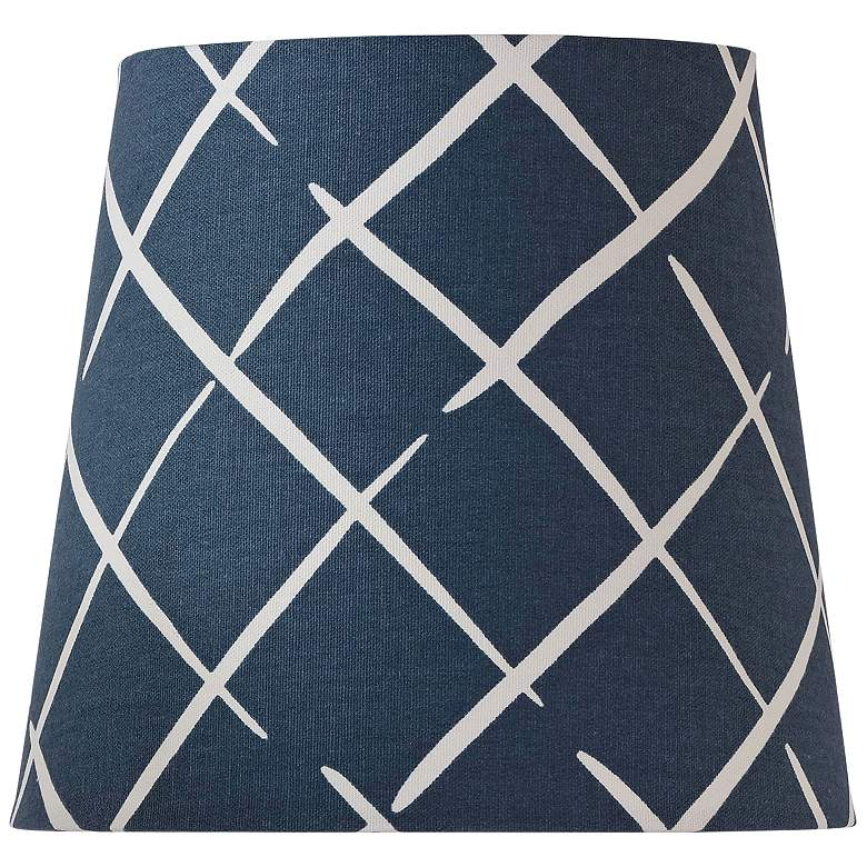 Cove End Indigo Blue White Empire Shade 7x9.5x8 (Spider)