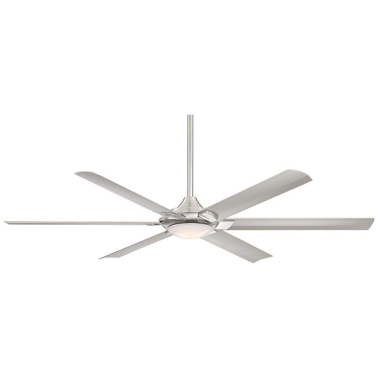 "70"" Casa Excursion™ Brushed Nickel LED Ceiling Fan"