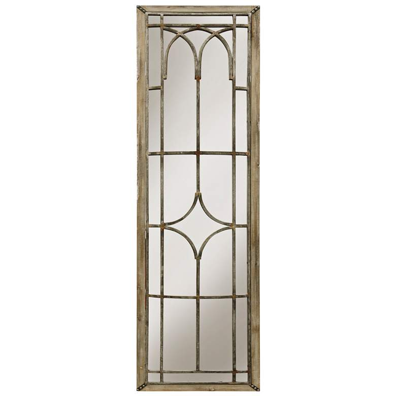 "Natural Wood 20"" x 70"" Entry Gate Wall Mirror"