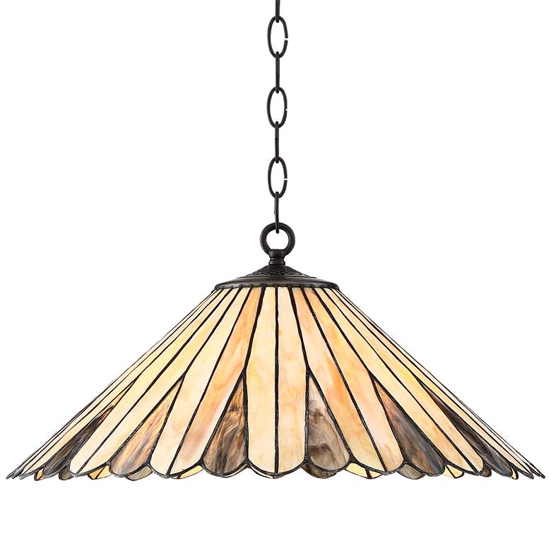"Deppa 19 3/4"" Wide Tiffany Style Plug-In Swag Chandelier"