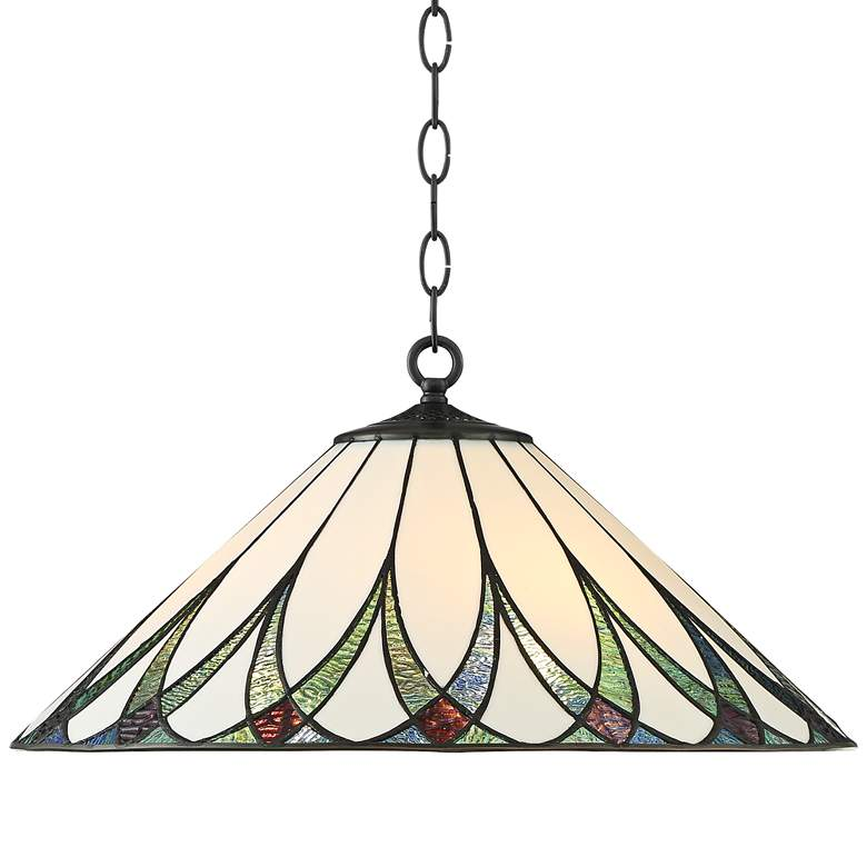 "Serena 19 3/4"" Wide River Accented Art Glass 3-Light Pendant"