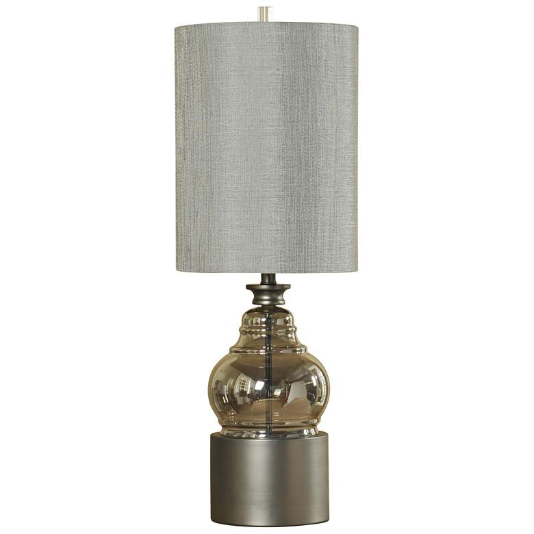 Cordoba Smoke Glass Table Lamp with Pewter Plated