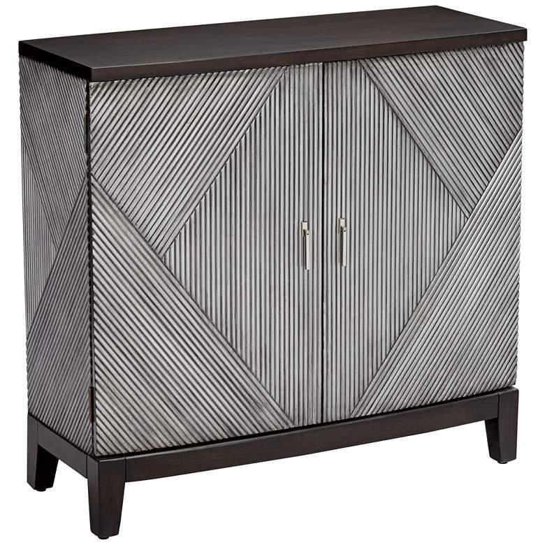 Crestview Collection Preston Geometric 2-Door Cabinet