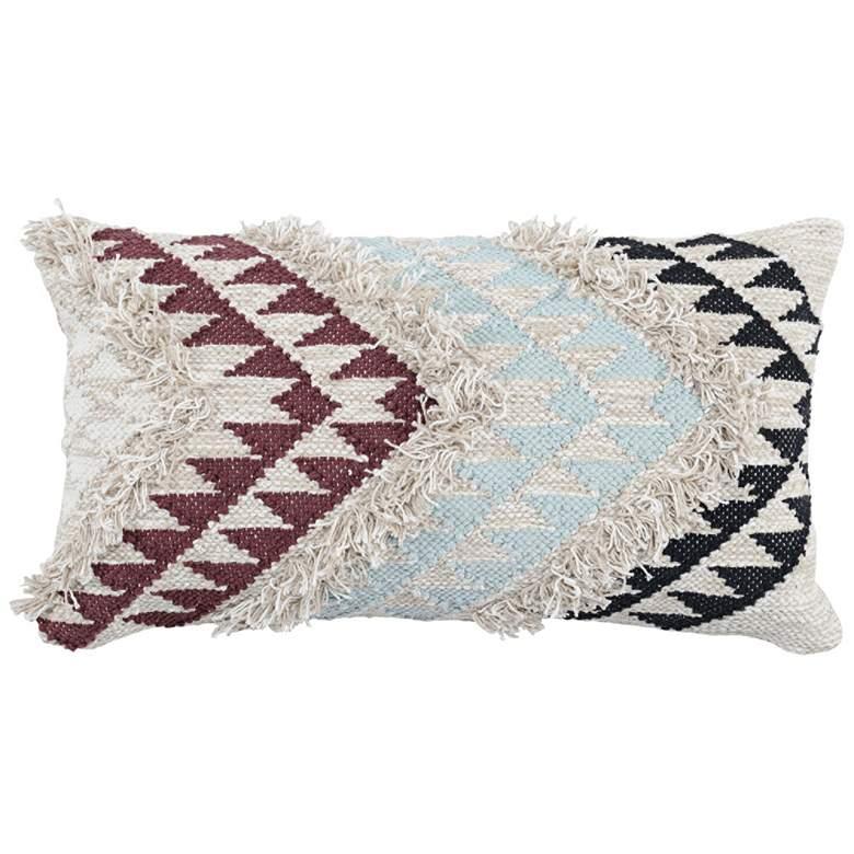 "Rashida Multi-Color 26"" x 14"" Decorative Pillow"