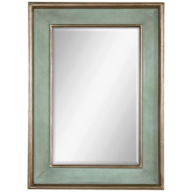 """Uttermost Ogden Blue Green 27"""" x 37"""" Wall Mirror"""