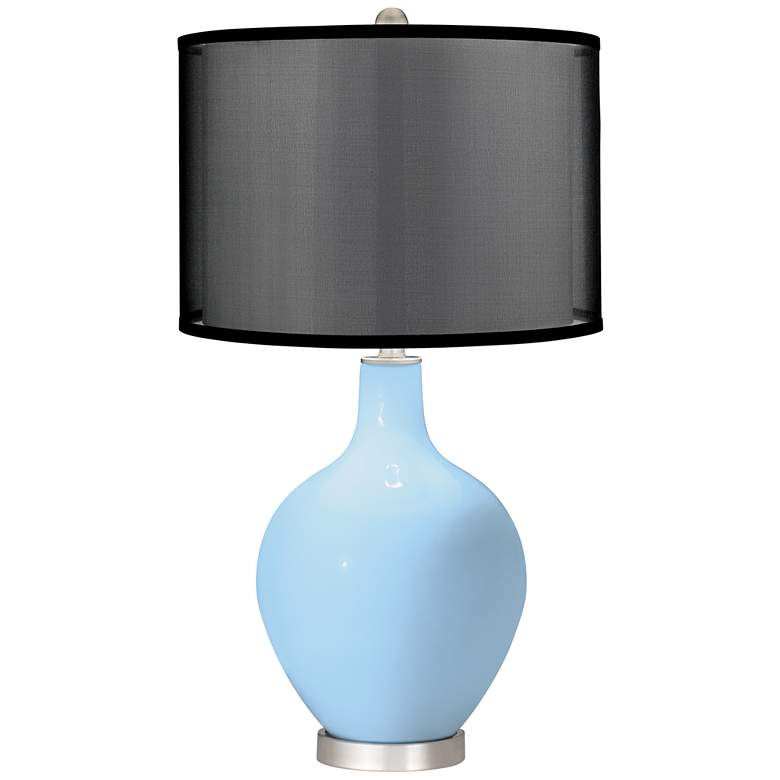 Wild Blue Yonder Ovo Table Lamp with Organza Black Shade