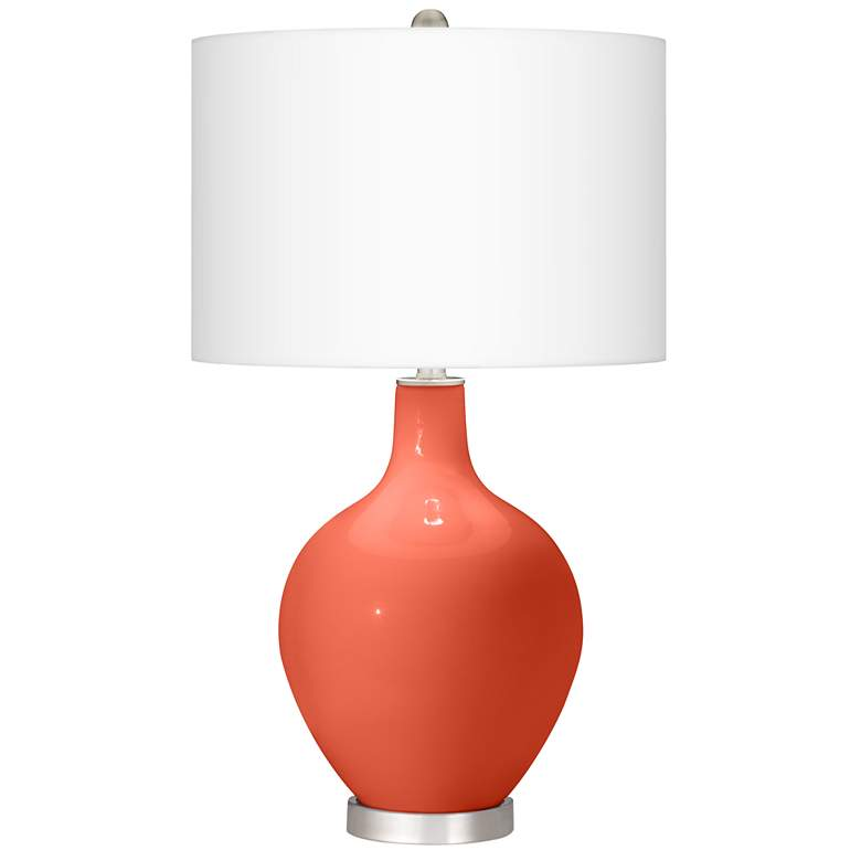 Daring Orange Ovo Table Lamp With Dimmer