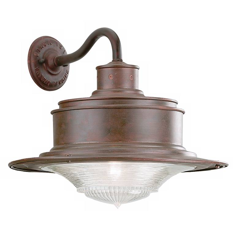 """South Street 14 1/4"""" High Outdoor Old Rust Wall Light"""