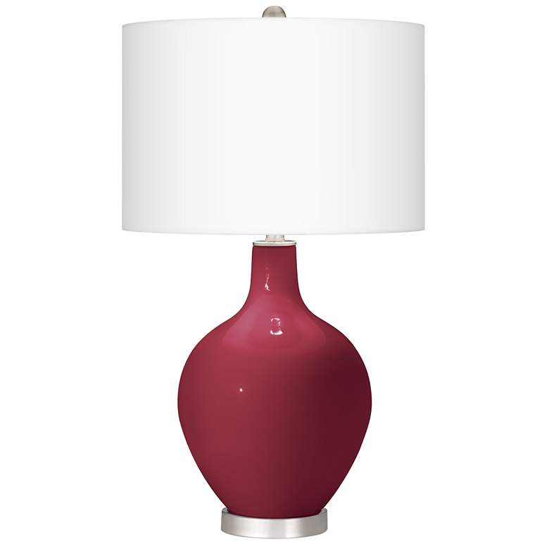 Antique Red Ovo Table Lamp With Dimmer
