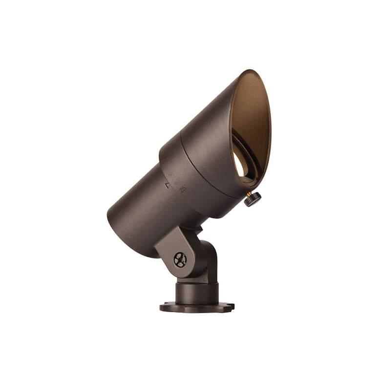 "WAC Landscape 4""H Bronzed Brass 3000K LED Accent Spot Light"