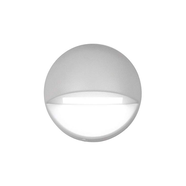 """WAC LEDme 3"""" Wide White Round 3000K LED Deck and Patio Light"""