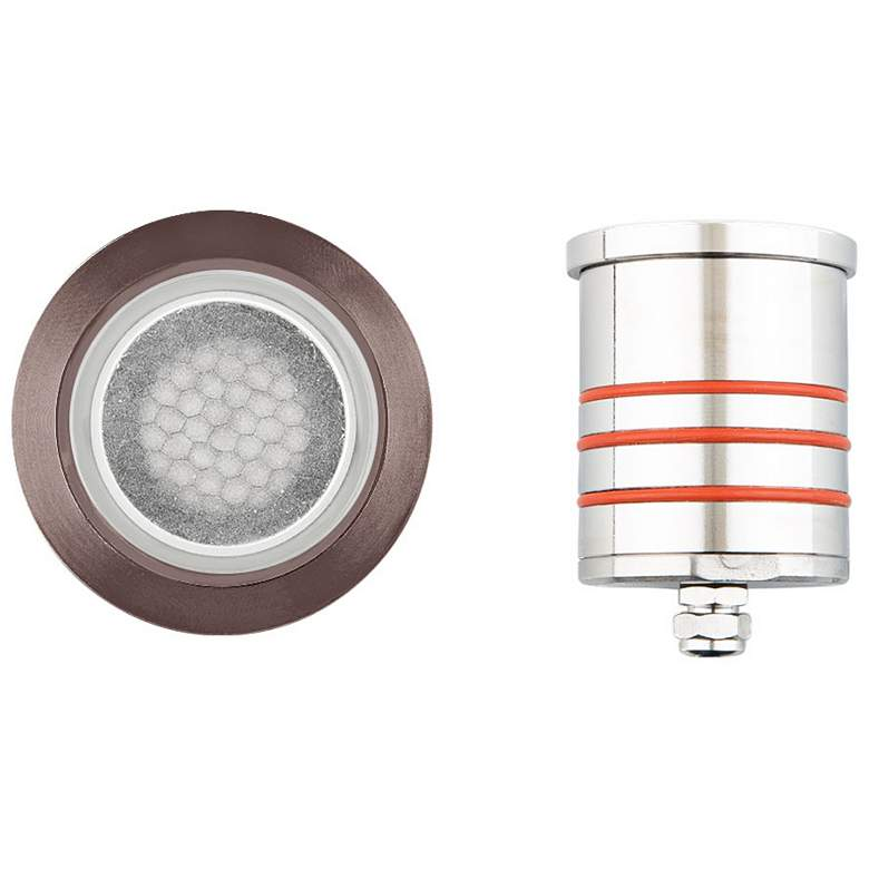 "WAC Landscape 2"" Brass Round LED In-Ground Indicator Light"