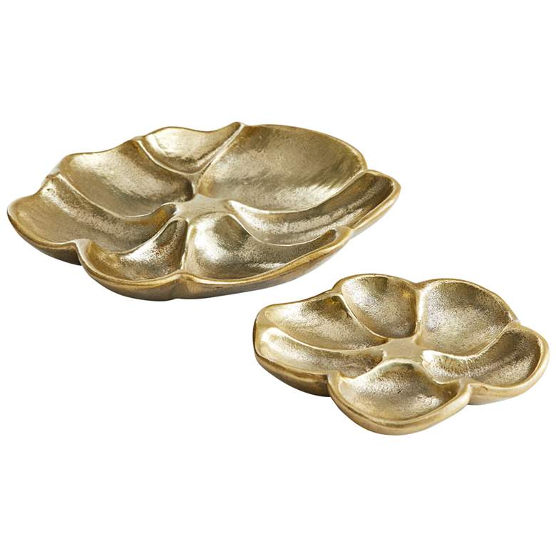 Arteriors Home Poppy Antique Brass Containers Set of 2